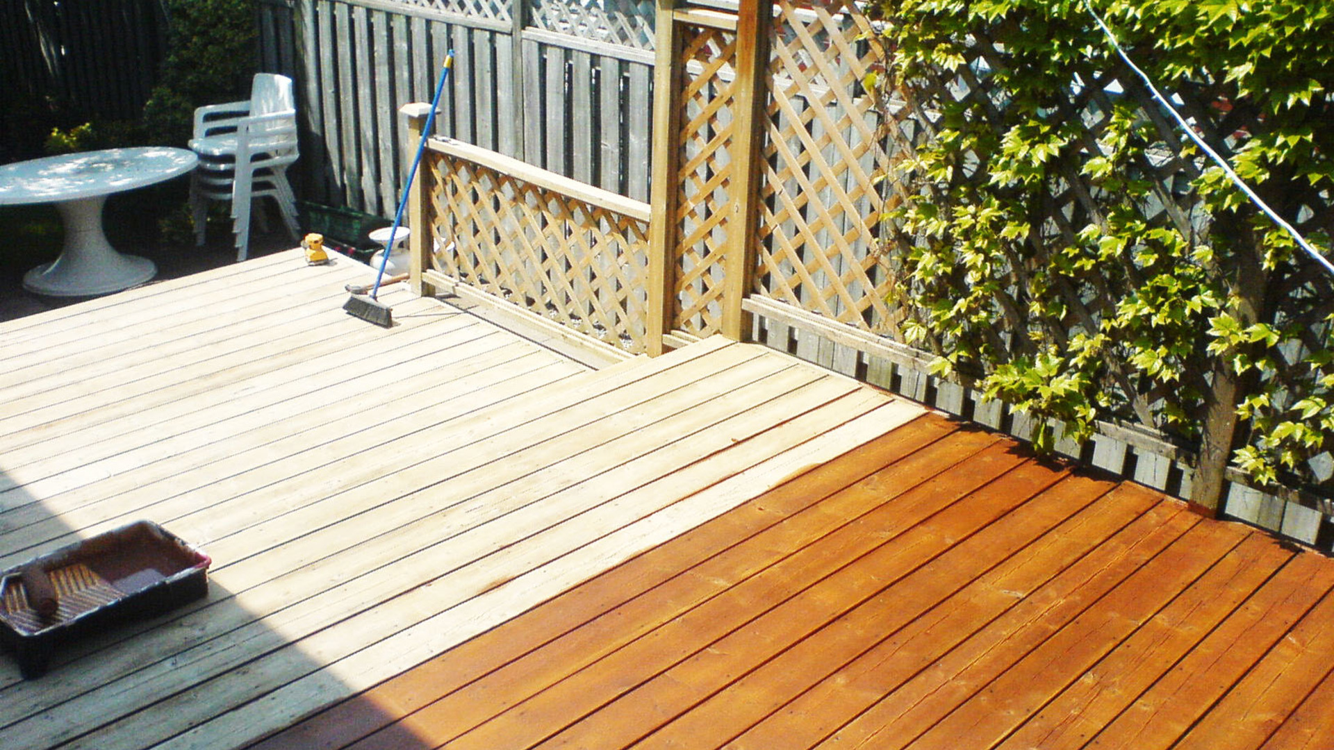 Deck Clean & Staining