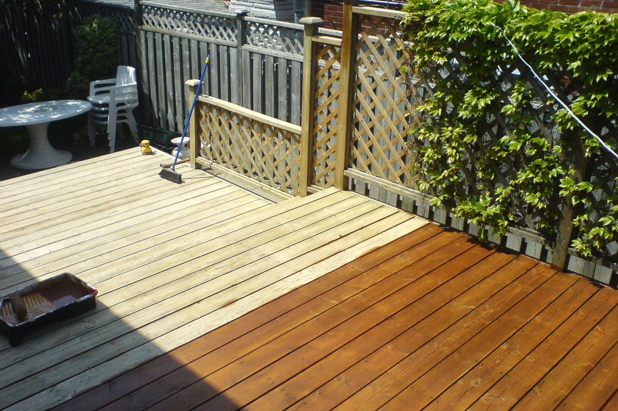 Home Deck Clean & Stain<br>• Before