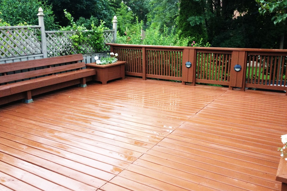 Home Deck Clean & Stain<br>• After